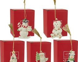 ornament lenox set of porcelain or nts k gold accents boxes
