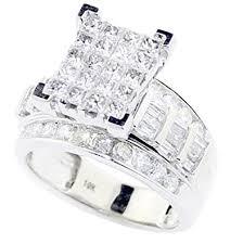 10k wedding ring princess cut wedding ring 3 in 1 engagement bands 10k