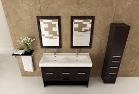 Bathroom Vanities With Sink Tops by Avola 47 Inch Double Bathroom Vanity Integrated Sink Top