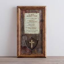 the full armor of god framed wall art dayspring
