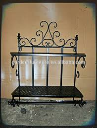 Wrought Iron Wall Shelves Home Decor Wrought Iron 3 Tier Shelf Vintage Wall Rack Hotel Style