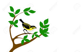 silhouette bird on tree royalty free cliparts vectors and stock