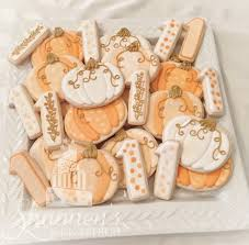 fall pumpkin cookies and number 1 u0027s in white gold and different