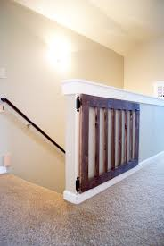 Baby Gates For Top Of Stairs With Banisters Custom Baby Gate Minwax Dark Walnut Diy Baby Gate And Baby Gates