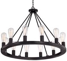 Black Chandelier Lighting by Lacey 30
