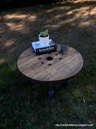 number fifty three reclaimed wooden spool coffee table