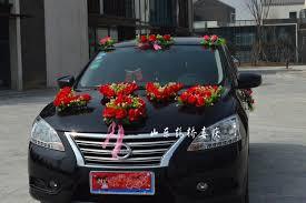 car decorations best heart shaped wedding car decoration set artificial flowers