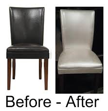 Leather Sofa Refinishing The Mckinley Clan Painted Leather Dining Chairs Crafty