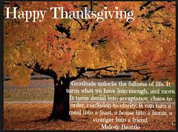 wishing you and your loved ones a happy thanksgiving m c
