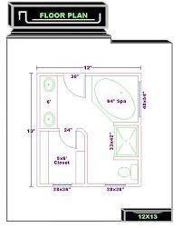 Master Bathroom Dimensions Master Bath 12x13 Floor Plan Ideas Home Xmas Home Xmas