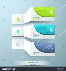 three lettered paper white elements pictograms stock vector
