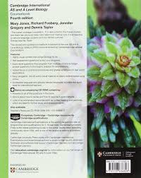 cambridge international as and a level biology coursebook with cd