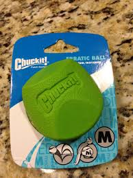 chuckit erratic rubber ball dog toy