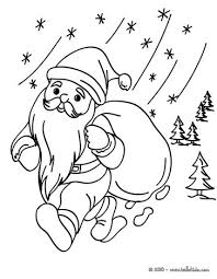 santa claus snow coloring pages hellokids