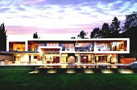 ultra modern glass house architecture moderndesign view home