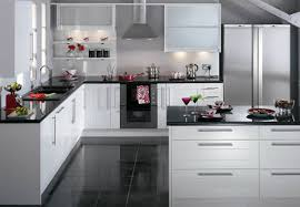 White And Black Kitchen Designs Kitchen Design Kitchen Black And White Kitchens Floor