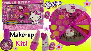 hello kitty make up set lip gloss palette nail polish u0026 press on