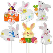 easter bunny decorations 6 easter yard stakes bunny decorations supplies bunny