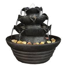 Water Fountain Home Decor Amazon Com Sunnydaze Black Three Tier Cascading Tabletop Fountain