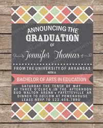 personalized graduation announcements graduation announcement graduation invitation college graduation