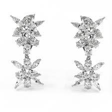 diamond ear rings images 8 61ctw jeanshevy detachable marquise pear oval diamond earrings jpg