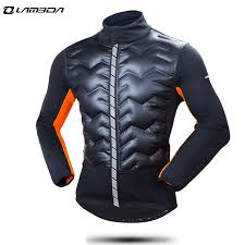 thermal cycling jacket winter windproof thermal cycling jacket jersey warm long down cotton