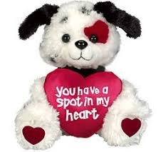 valentines day stuffed animals puppy dog you a spot in my heart plush