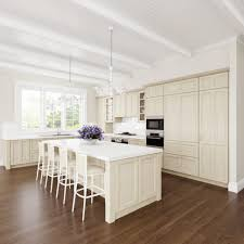 Two Tone Wood Floor Kitchen Fascinating Two Tone Kitchen Cabinet Stylish Wooden Wall
