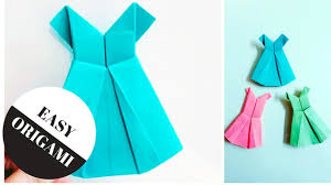 how to make a cute paper dress origami dress easy origami