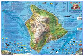 map of hawaii big island hawaii dive map the big island franko s fabulous maps of
