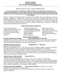 Resume Samples Logistics Manager by Materials Manager Resume Free Resume Example And Writing Download