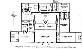 Floor Plans For Ranch Style Homes by House Plans Courtyard Ranch Style Likewise Modern U Shaped House