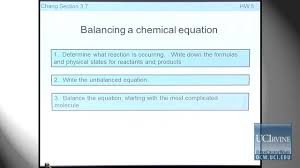 preparation for general chemistry 1p lecture 13 chemical