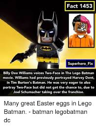Batman Face Meme - fact 1453 superhero fix billy dee williams voices two face in the