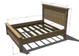Bed Frames Diy King Platform Bed How To Build A Platform Bed by Ana White Build A Farmhouse Bed Calif King Free And Easy Diy