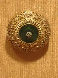 file hair ornament southern india 18th century gold green