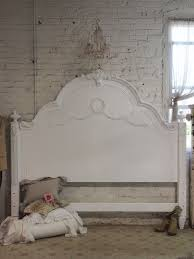 White Shabby Chic Bed by Painted Cottage Shabby White Romance King Headboard Shabby Chic