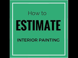 Bidding Interior Paint Jobs How To Estimate Interior Painting Youtube