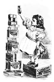 vintage advertisement for soap free coloring page to download on