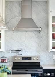 ikea backsplash a marble panel backsplash for our diy kitchen the diy mommy white