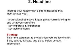 What Is Resume Summary What Is Resume Headline For Freshers Resume Ideas