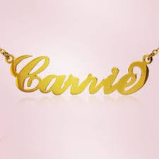 Gold Cursive Name Necklace Personalized Gold Plated Silver Fiolex Girls Fonts Heart Name