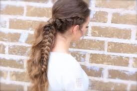 viking braid ponytail hairstyles for sports cute girls