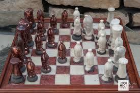 unique chess pieces unique raku chess set u2013 u201ccopper u201d vs u201cwhite u201d ceramic art vision by b