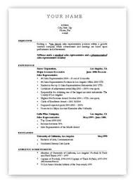 Job Resume Formats by Sample Resumes University Career Services 3 Http Www Jobresume