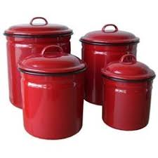 red kitchen canister set red ceramic canisters set of 3 canisters home decor