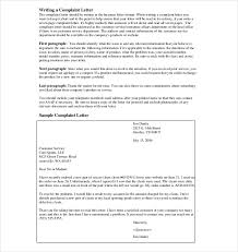 example of a professional complaint letter cover letter sample