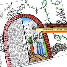 arched coloring adults moms crafters