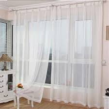 white sheer panel curtains are suitable for living rooms