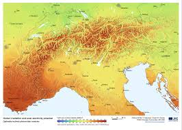 World Mountain Ranges Map by File Alps Solar Map Png Wikimedia Commons